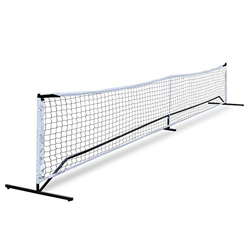 ZENY Portable Pickleball Tennis Net Set System w/Carry Bag Metal Frame Stand and Pickleball Net for Pickleball,Kids Volleyball,Badminton,Portable Pickleball Set,Including 4 Ground Stakes (Best Portable Tennis Net)