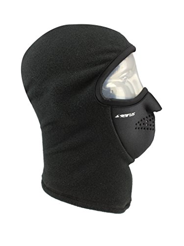 Seirus Innovation 8039 Neofleece Polartec Combo Clava - Winter Cold Weather Head, Face, and Neck Protection, Black, Large/X-Large