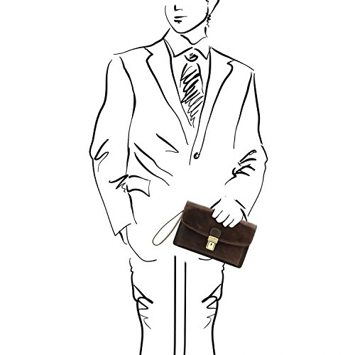 Tuscany Di Tl141444 Borsello Arthur nero Mano Leather Pelle Testa Esclusivo In Moro A grqPgcwWa