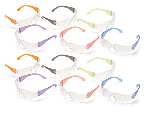 The Pyramex Multi-Colored Safety Glasses are economical, lightweight, and comfortable. They are great for general indoor applications that require impact protection. Lenses are coated for superior scratch resistance and protect you from harmf...
