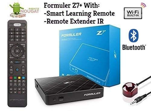 Formuler z7+ Nougat 7 Single Band BUILTIN WiFi & Bluetooth with Smart Learning Remote + Free Phone Charger 3 in 1
