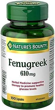 Nature's Bounty Fenugreek Supplement, 610Mg, 100 Caps