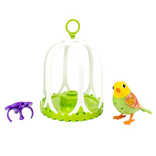 DigiBirds - Bird with Bird Cage - Green