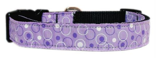 Mirage Pet Products Retro Nylon Ribbon Collar, X-Small, Lavender