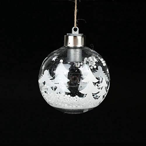 MEIZOKEN LED Indoor Christmas Tree Pendant Decoration Xmas Ornament Originality Ball Beautiful Gifts Hanging Plastic ()