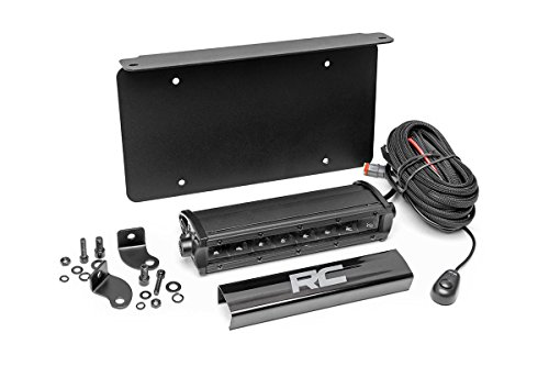 Rough Country - 70183 - LED License Plate Mount Kit w/ 8-inch Black Series CREE LED Light Bar for Universal Application -