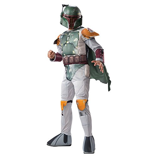 - Star Wars Boba Fett Child's Costume, With Bonus Medallion Necklace Large US 12-14