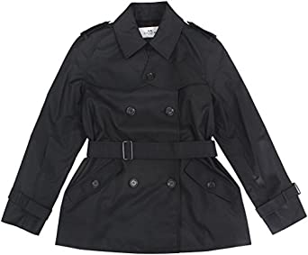 Amazon.com: Coach Women's Solid Short Trench Coat: Clothing