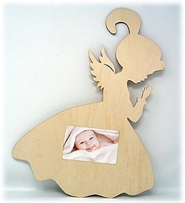 Ángel de madera auténtica Ángel imágenes de marco para puerta de ...