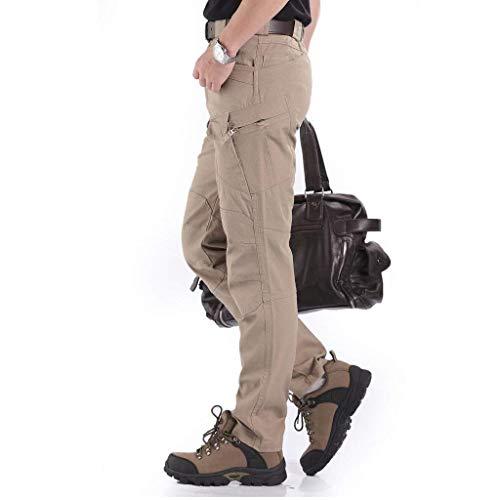 Hx Air Et Boucles Cargo Hommes Mode Avec Vintage Survêtement Poches En De Pantalon Kaki Loisirs Plein Sport Plusieurs R8rR6wx0q