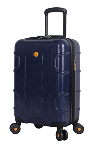 Lucas 20 Inch Carry On Luggage Collection - Expandable Scratch Resistant (ABS + PC) Hardside Suitcase - Designer Lightweight Bag with 8-Rolling Spinner Wheels (Cosmo Blue)