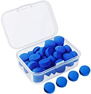Kulannder 30 Pcs Pool Cue Tips 12mm Billiard Cue Stick Replacement Tips with Clear Box for Snooker Pool Cues (