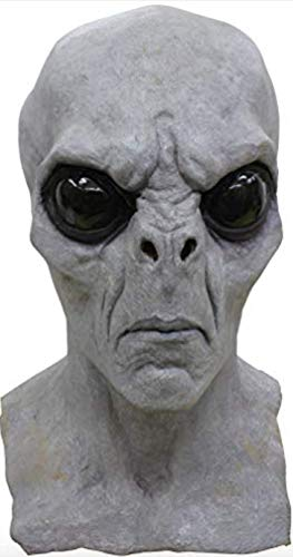 Alien Gray Full Overhead Deluxe Mask Adult Size