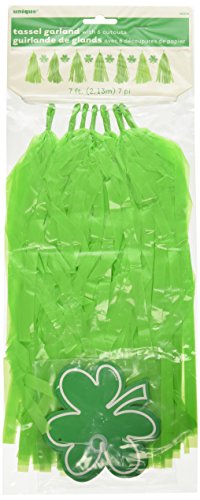 7ft Plastic St. Patrick's Day Tassel Garland (Patricks Day Streamer)