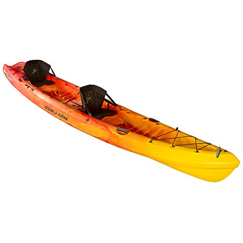 (Ocean Kayak Zest Two Expedition Tandem Sit-On-Top Touring Kayak, Sunrise, 16 Feet 5 Inches)