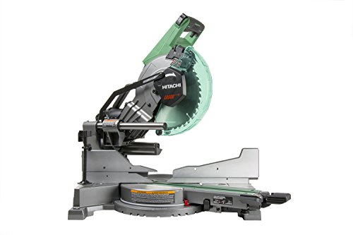 Hitachi C10FSHC 10 inch Sliding Compound Dual Bevel Miter Saw with Laser