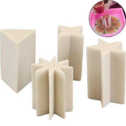 WINGOFFLY Funny Resin Column Mold for Art Soap Making DIY Handmade Soap Supply(4PCS Set)