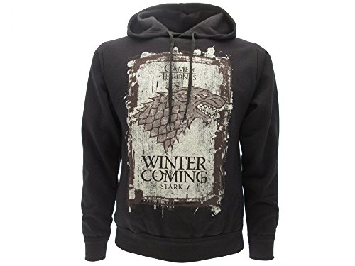 KAPUZENPULLI Hoodie Sweatshirt WINTER IS COMING Haus STARK von TV Show GAME OF THRONES - 100% Offiziell HBO