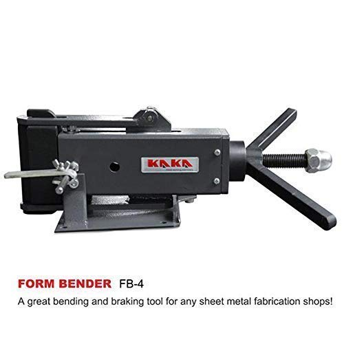 KAKA FB-4 4-Inch Hand Operated Steel Bending Brake, High Flexibility, Easy Operation Sheet Metal Forming Bender by KAKA INDUSTRIAL