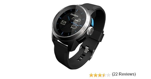 Cookoo CKW-SK002-01 reloj inteligente - relojes inteligentes (Silicona, Alrededor, Negro, Plata, De plástico, Acero inoxidable, Negro, Mineral)