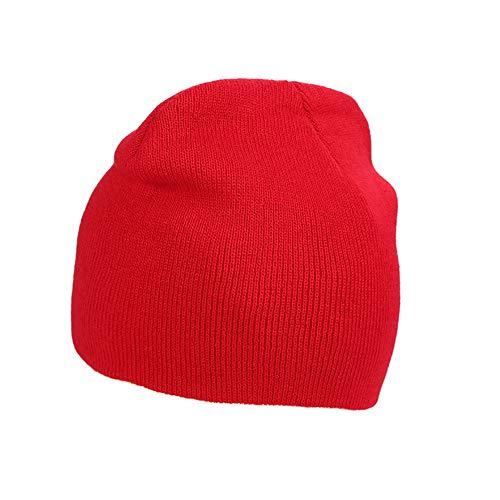 IRONLAND Cap Hats Rojo Mujeres Warm Beanie y Hombres Knitting Skull Winter Lana para EfHxrwEY7q