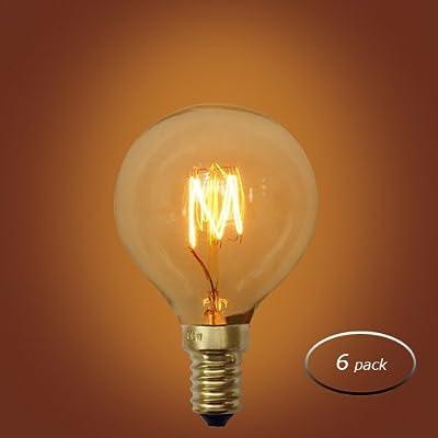 Urbanest E12 Small Squirrel Cage 40 Watt Vintage Edison Light Bulb