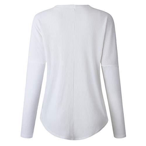Con V White Manga Camisa En De Para Cuello Larga Hombres qYPwZtzT