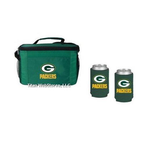 NFL Football Team Logo Picnic Cooler & Neoprene Beverage Coolies (2) Gift Set (Nfl Beverage Cooler)