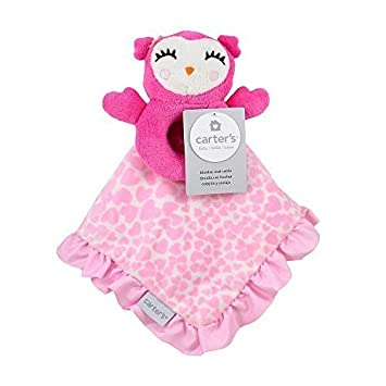 Amazon.com : Carter's Owl Plush Security Blanket with Rattle by ... : triboro quilt - Adamdwight.com