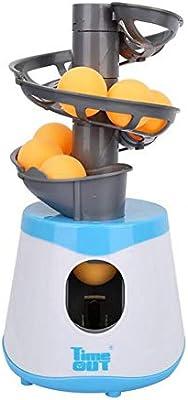 Ping Pong Tenis de Mesa Robot Fácil de Llevar Material de PE Puede Contener 15 Bolas para Entretenimiento Infantil, interacción,Principiantes: Amazon.es: Deportes y aire libre