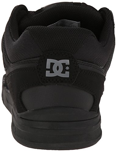 DC Mens Stag 2 Skate Shoe, Black/Dark Shadow/Green, 6 M US Black