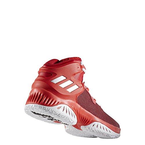 Adidas Originali Mens Esplosivo Rimbalzo Scarpa Da Corsa Scarlatto-argento Metallizzato-rosso