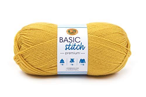 Lion Brand Yarn 201-158 Basic Stitch Premium Yarn, Saffron