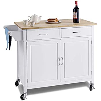 Amazon Com Kitchen Cart Rolling Island Storage Unit