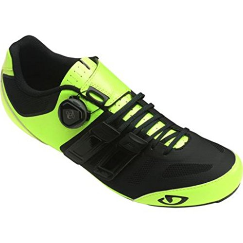 Giro Sentrie Techlace Hi Vis Yellow Black Road Bike Shoe Size 44.5 ygzalbyrWI