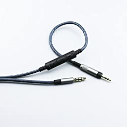 Ablet Replacement cable for Bose QuietComfort 25 , 35 , QC25 , QC35 Headphones, Audio cord remote volume mic fit Samsung Galaxy Sony Xiaomi Huawei Android phone