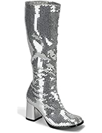 Amazon.com: Silver - Knee-High / Boots: Clothing, Shoes & Jewelry