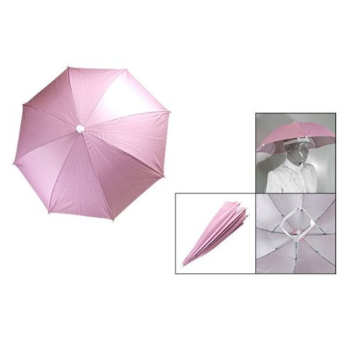 Dcolor Pink Outdoor Sports Fishing Umbrella Hat Headwear ()