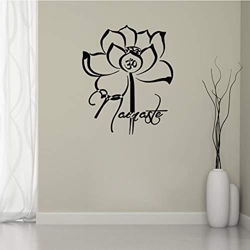 Yyoutop Símbolo de Yoga OM Pegatinas de Pared Flores Lotus ...