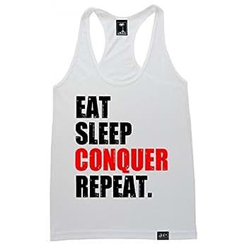 FTD Apparel Women's Eat Sleep Conquer Repeat Racerback Tank Top