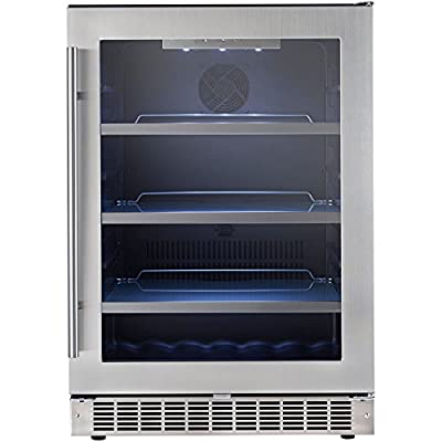 Danby DBC056D1BSSPR Silhouette Built-In Beverage Center, 5.6 Cubic Feet, Black/Stainless Steel/Glass