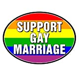 Gay Rainbow Sisters Support Gay Marriage Auto Magnet