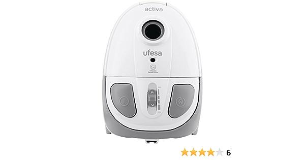 Ufesa AC-2501 Aspirador con bolsa, 900 W, 2.5 litros, 86 Decibelios, Blanco y gris: Amazon.es: Hogar