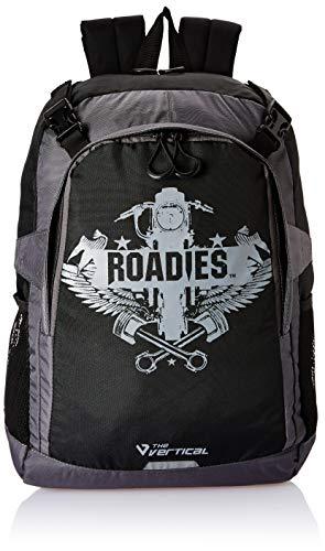 Roadies By The Vertical Metal Polyester 18 Ltrs Black Laptop Backpack  8903496094114