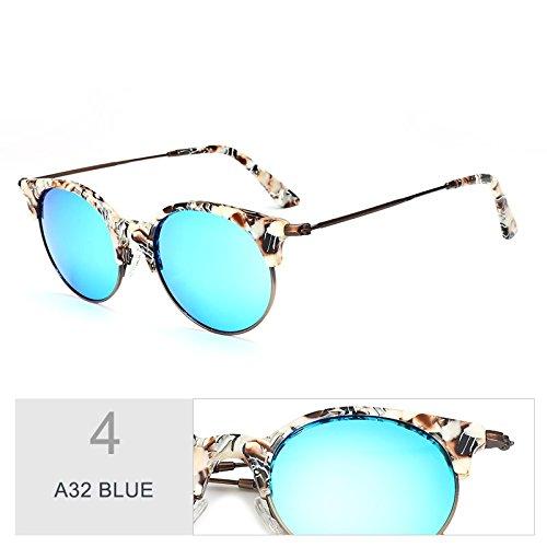 Gafas Clásico Bastidor Reborde De Sin Sol Sol Del Azul De Puente TIANLIANG04 R32 Gafas Solo Semi Traje Polarizadas BLUE A32 Gafas Fnq6ptB