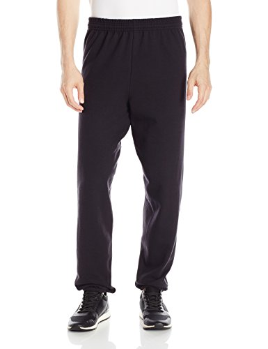 Hanes Men's EcoSmart Fleece Sweatpant, Black, (Black Sweatpants)