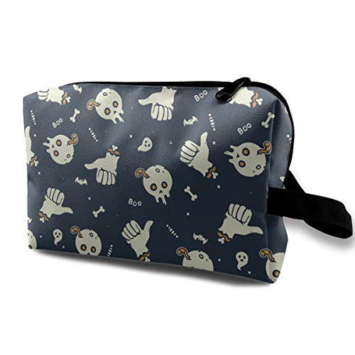 Wqi Home Cosmetic Case Bag Halloween Zombie Large Capacity Makeup Pouch Novelty Toiletry Storage Bag for Travel