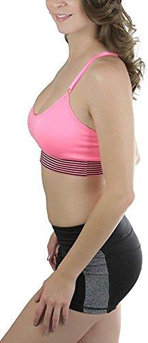 Jovani Zebra Dress (BABY-QQ Comfortable Women's Padded Microfiber Y-Back Sports Bra Neon Pink2X Plus)