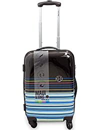 Maui and Sons Stripes Expandable Hardside Spinner Luggage with TSA Lock (20