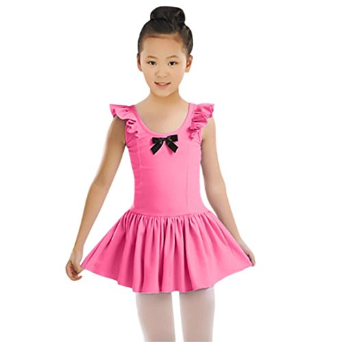 Doric Toddler Girls Ballet Dress Ruched Leotard Dance Gymnastics Dress Clothes Outfits